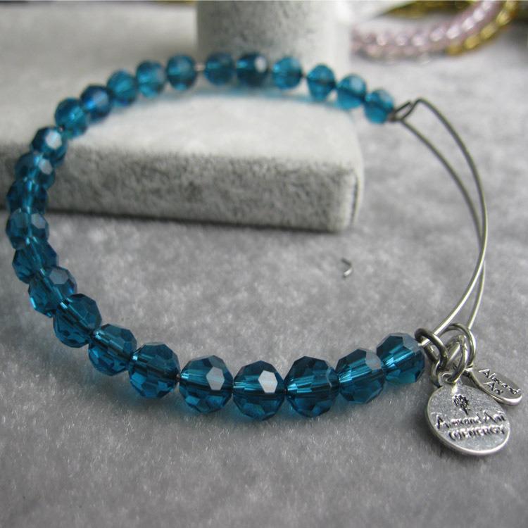 Fashion Crystal Bangle Charm Bracelet Jewelry