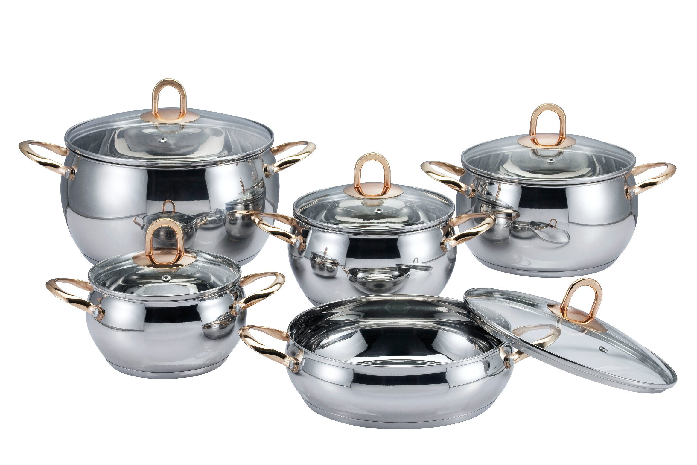 10 PCS Apple Cookware Set