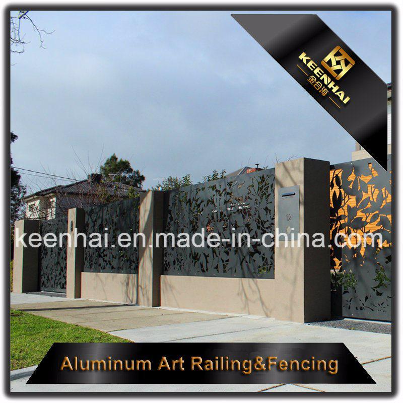 Laser Cut Metal Aluminum Garden Fence Panel for Decoration