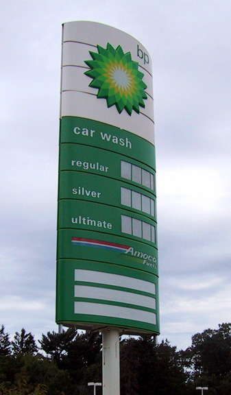 Advertising Outdoor Pylon Sign for Gas Station