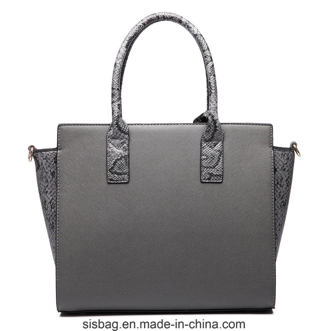 Women PU Leather Handbag Designer Crocodile Snake Shoulder Bag
