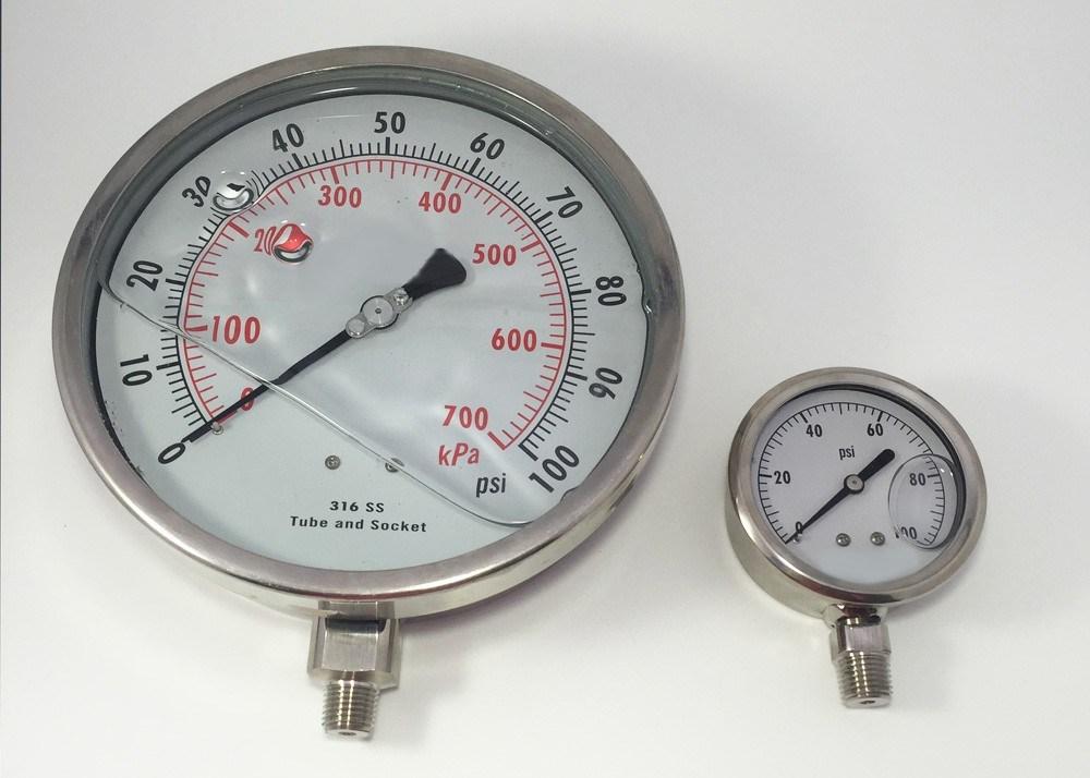 "048 6"" All Stainless Steel Liquid Filled Pressure Gauge"