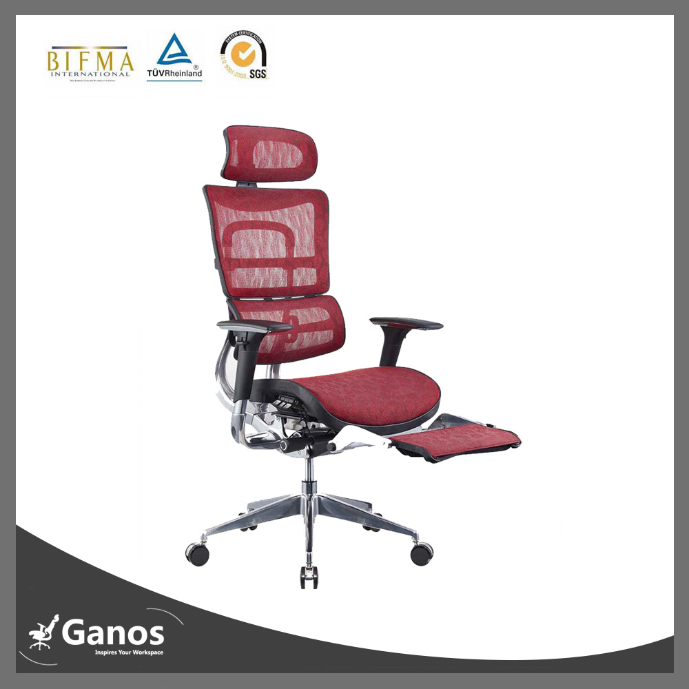SGS Quality Reclining Mesh Office Chair with Footrest