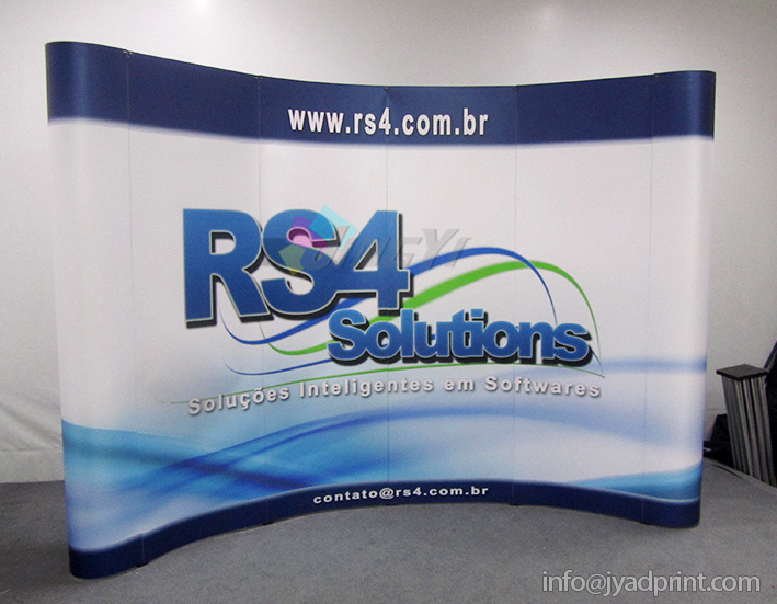 Customized 3X4 PVC Pop up Advertising 10FT Display Equipment