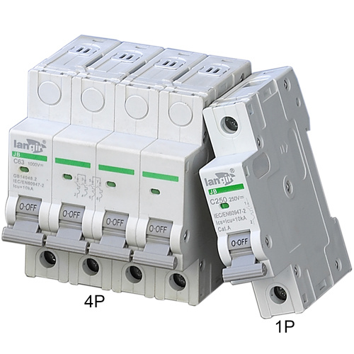 Langir Solar Photovoltaic DC Circuit Breaker with 4 Poles TUV