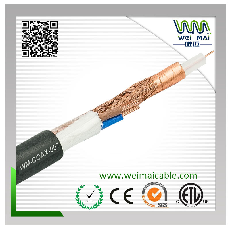 Bc Solid PE 80% Braiding Rg59 Power Coaxial Cable