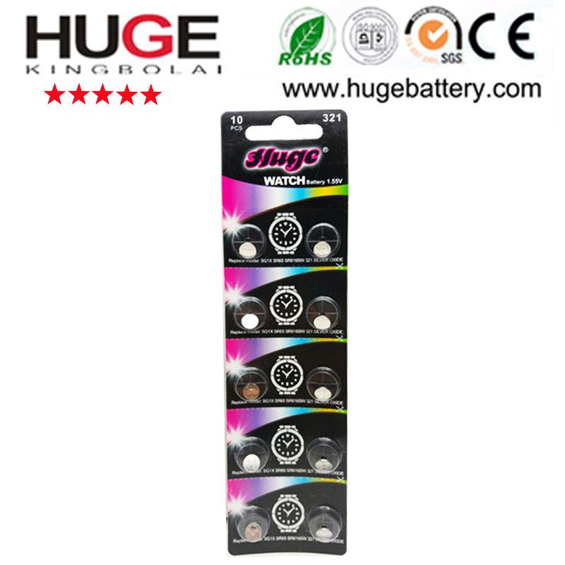 1.55V Sg13 357s Sr44 357 Silver Oxide Button Cell Battery