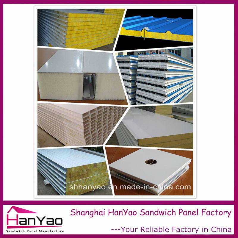 Shanghai Factory Price Fireproof Thermal Insulated Steel Sandwich Panel for House Building