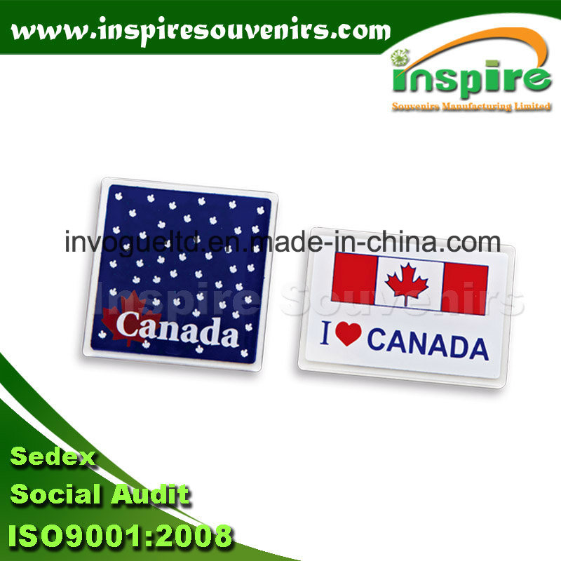 Canada Square Acrylic Fridge Magnet with Printing