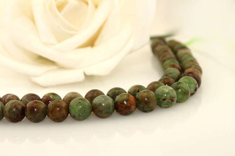 Size 6 8 10 12mm Imported Flower Stone Natural Bulk Semi Precious Gemstone Chips Beads