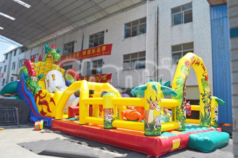 Inflatable Jurassic Park Obtacle Course