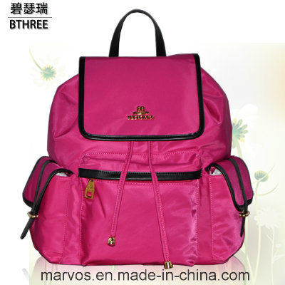Hot Style Women Nylon with PU Leather Backpack with Hight Quality (BS12411)