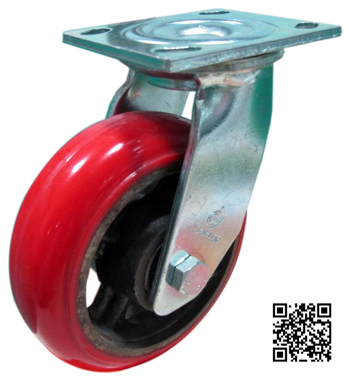 Heavy Duty PU on Iron Caster (Swivel)