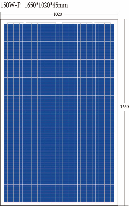 TUV ISO Ce Poly150 W Solar Panel with High Efficiency Cheap Price and 10 Years Quality Warranty From Factory Popular in Thailand Market