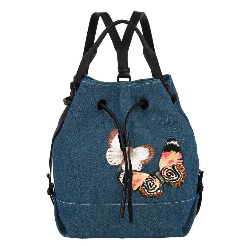Leisure Bucket embroidered Lady fashionable backpack(JD-1F)