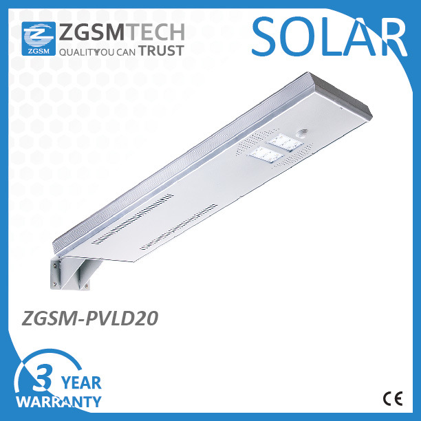 20W All in One Solar Street Lamp with Dimming Function
