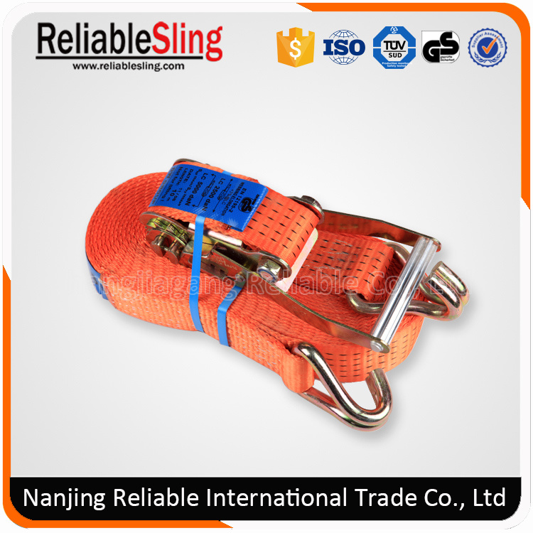 Polyester Retractable Ratchet Tie Down Buckle Strap for Cargo Lashing