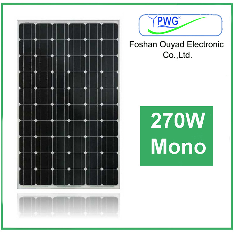 Factory Price Solar Energy Solar System Mono Solar Panel 270W
