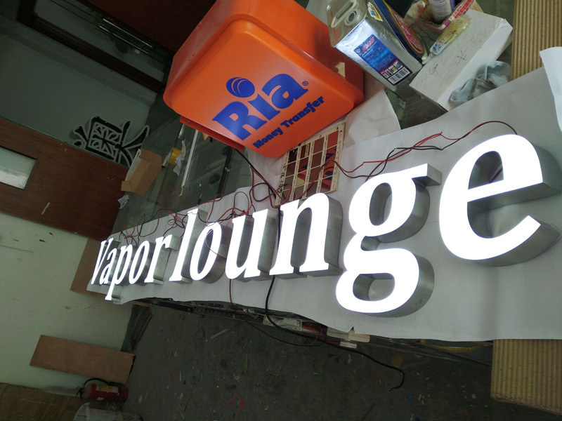 Store Advertising Front-Lit Epoxy Resin LED Channel Letters Sign