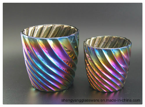 Hot Sell Colorful Ion Plating Candle Holders for Home Decor