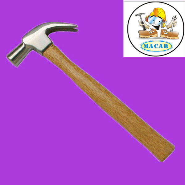 Curved Claw Hammer with Wooden Handle