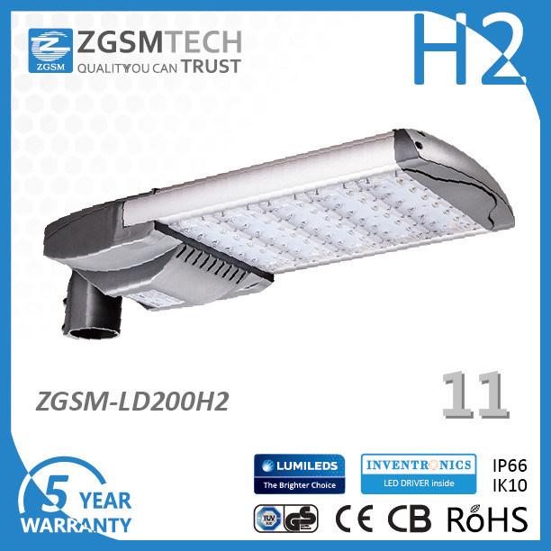 200W Motion Sensor LED Street Light for Pavement