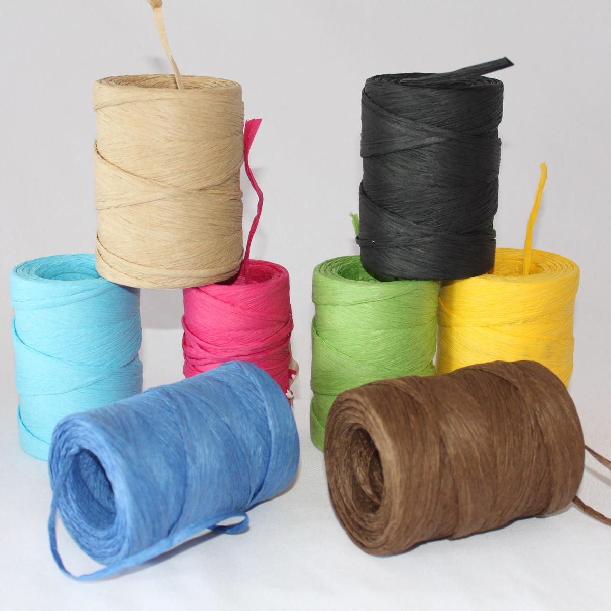 Colored Raffia String Roll