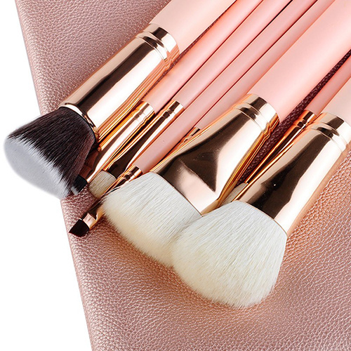Pink Lady 8 Pieces Luxury Rose Golden Makeup Brush