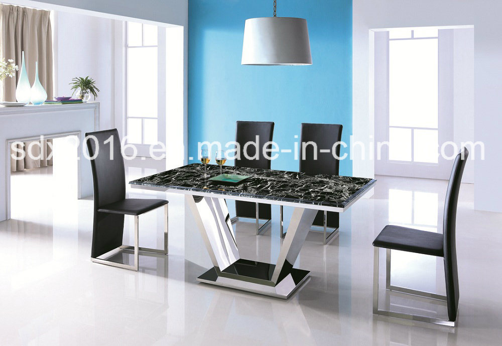 Marble Top Stainless Steel Frame Modern Coffee Tea Table Home Furniture