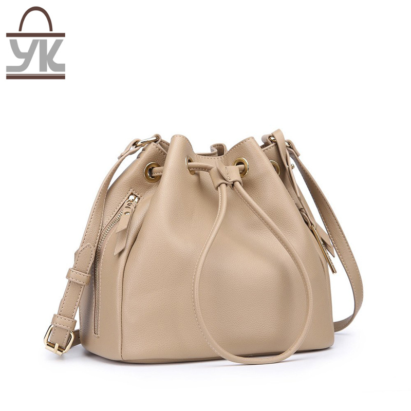 2017 Fashion Leisure PU Leather Women Bucket Handbag