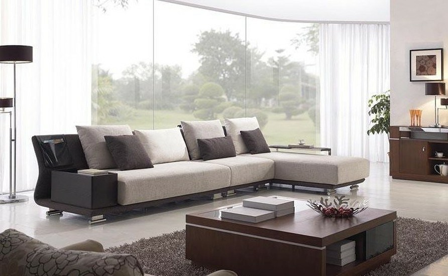 Chinese Furniture Combination Sofa Hotel Modern Sectional Living Room Corner Upholstery Fabric GLMS 028