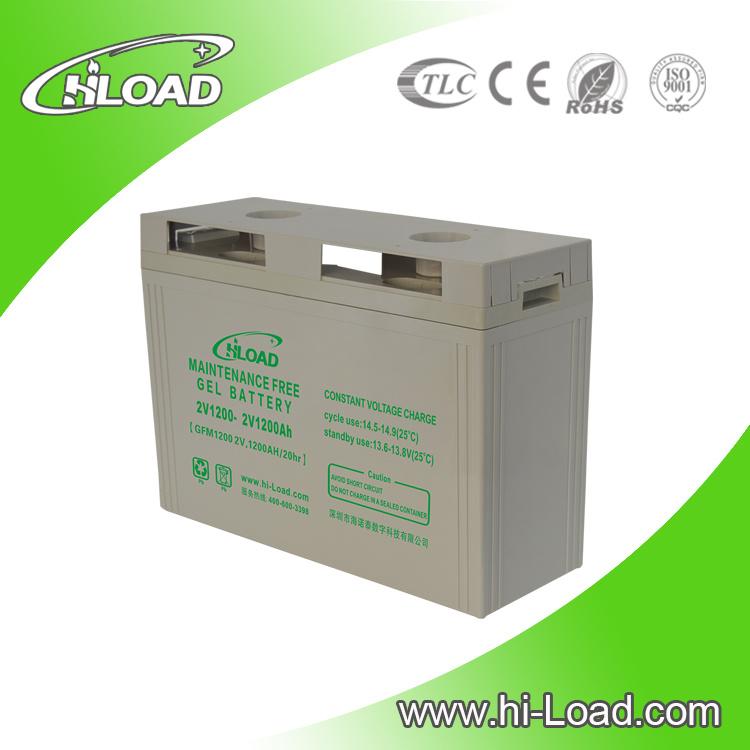 12 Years Long Design Life 2V 200ah Solar Gel Battery
