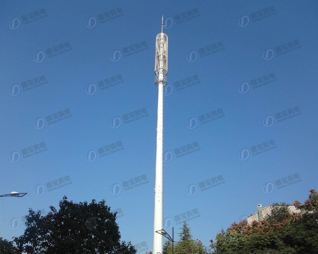Galvanized Antenna Monopole Telecommunication Steel Tower