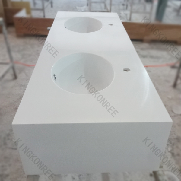 China Custom White Solid Surface Stone Bathroom Countertop V1505294 Photos Pictures Made