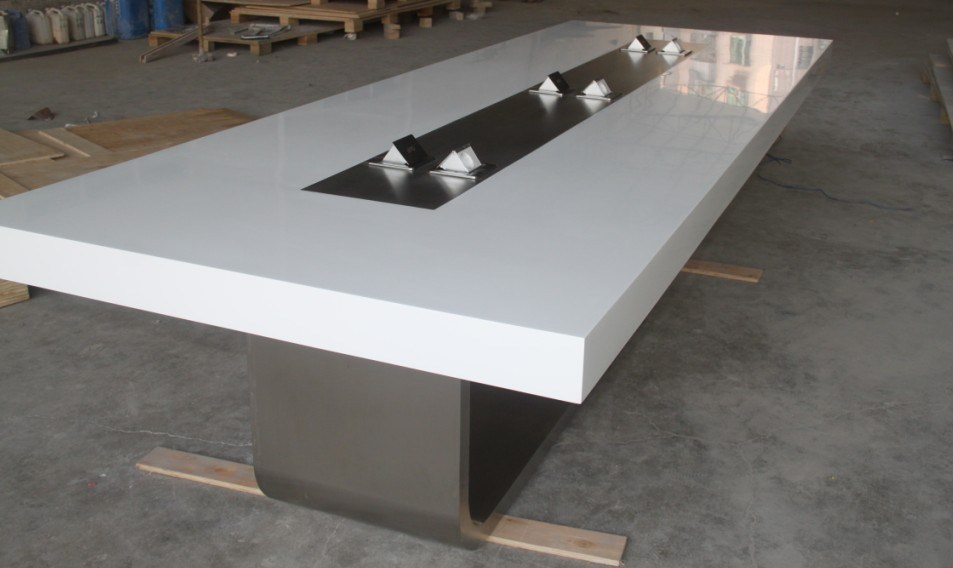 china new design modern office corian solid surface confererence table meeting table for office. Black Bedroom Furniture Sets. Home Design Ideas