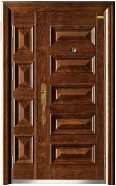 Stylish Monther-Son Steel Entance Door