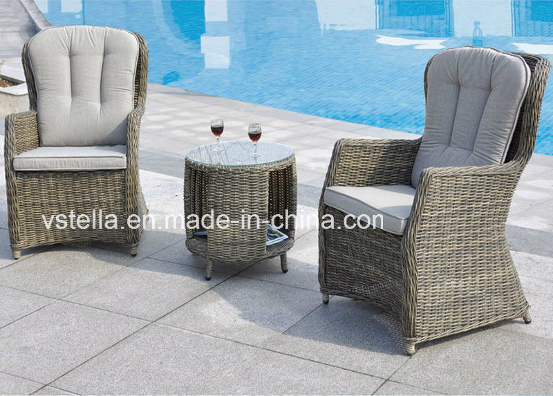 PE Rattan Bistro Garden Chatting Set Leisure Chair