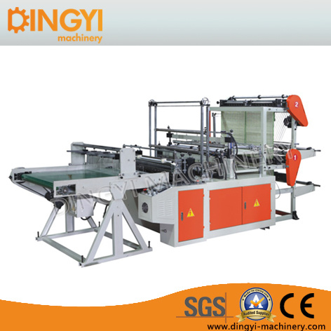 Two Layer Four Line Bottom Sealing Plastic Bag Making Machine