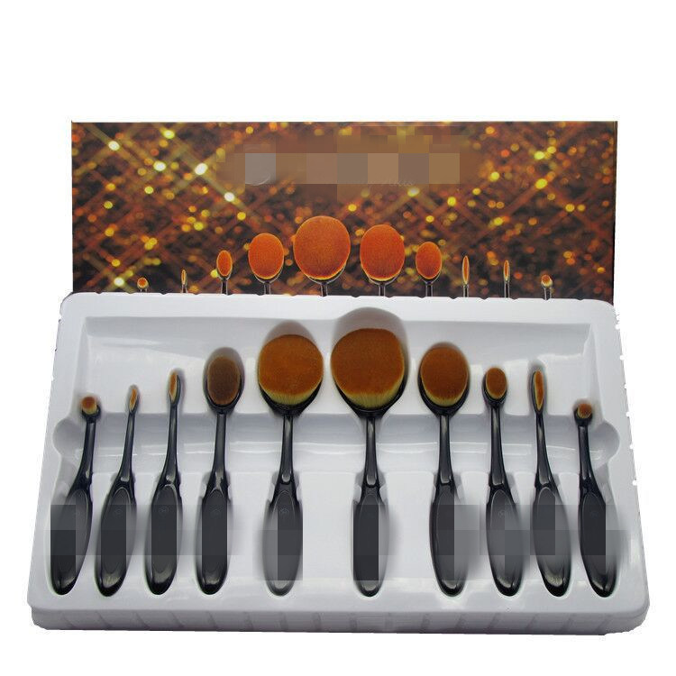 Professional Cosmetic Brush Set Toothbrush Style Oval Multi-Purpose Makeup Brush