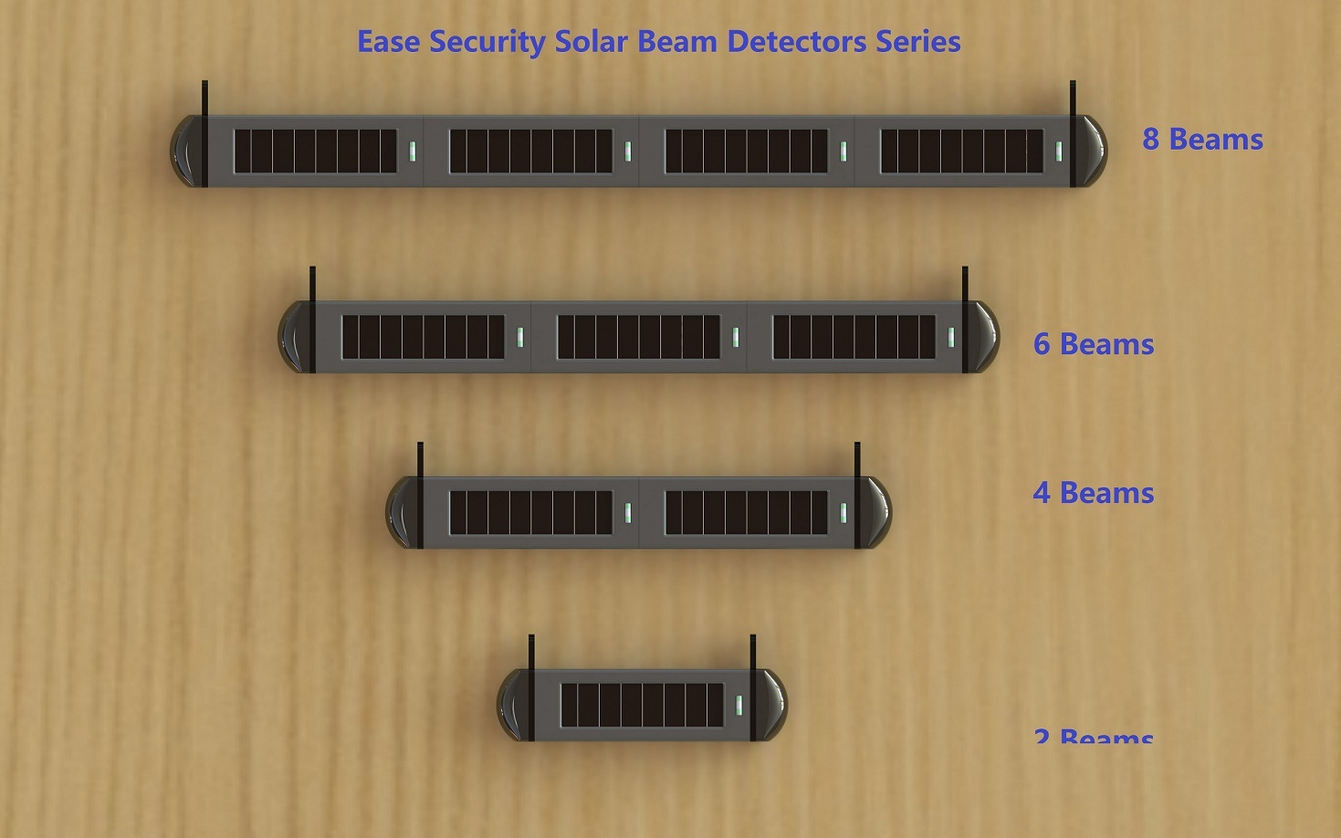 Wireless Solar Beam Sensor with 1000m Transmitting Distance (ES-S03120)