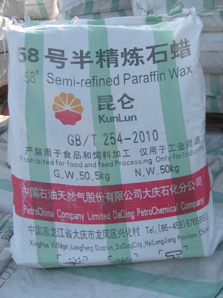 Semi Refined Paraffin Wax 58-60 Kunlun Brand