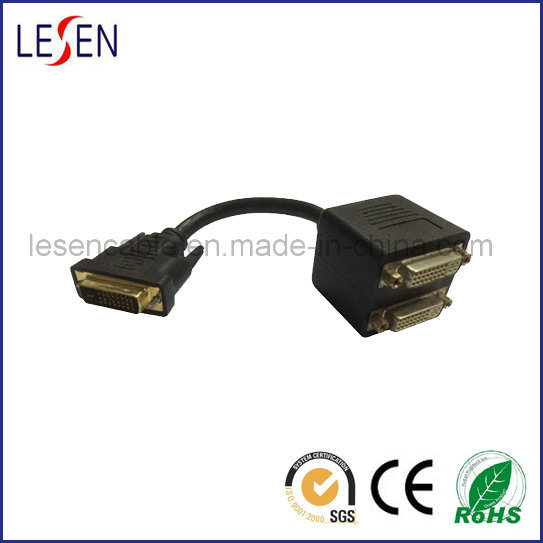 1 DVI Male to 2 Female Converter Adapter Splitter