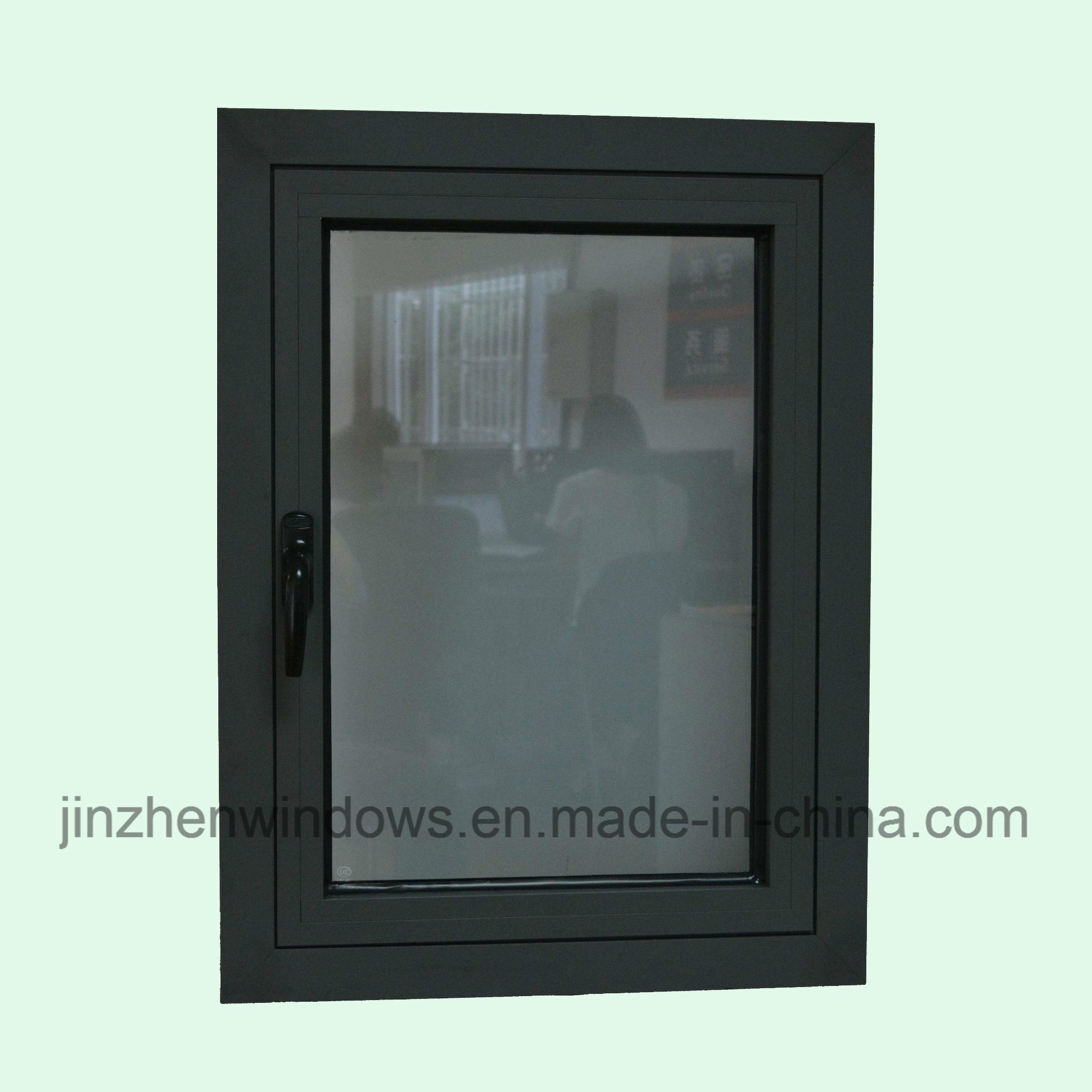 High Quality Thermal Break Aluminum Profile Casement Window with Multi Lock K03064