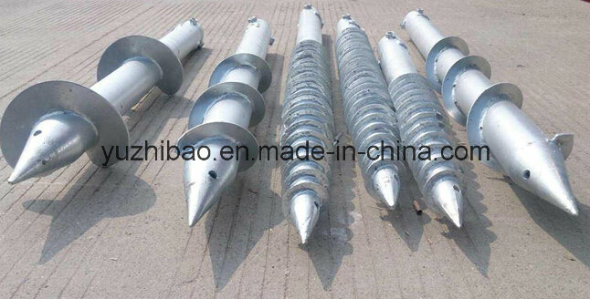 Hot DIP Galvanized Steel Ground Screw Anchor, Ground Screw