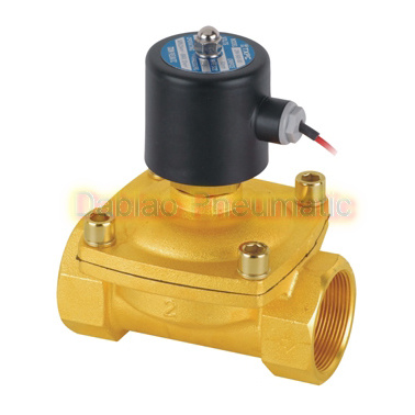"Electric Solenoid Valve Water Air N/O 12V DC 2"" Normally Open Type Brass Body Wire Lead 2W500-50-No"