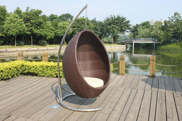 옥외 정원 또는 등나무 가구--그네 의자--안으로 누르기 모형 ...