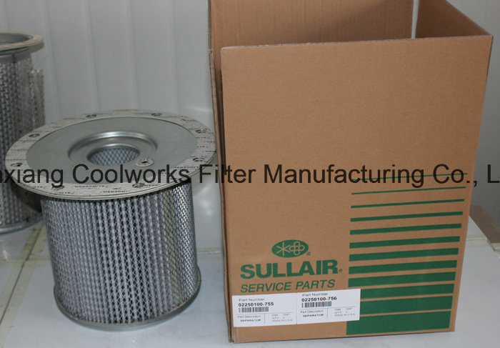 Air Compressor Parts Air Oil Separator for Sullair Compressors 02250100-753, 02250100-754