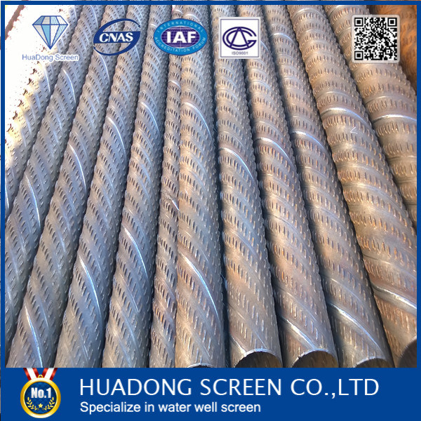 Water Well Drilling Bridge Slotted Screen / Bridge Slot Screen in Carbon Steel
