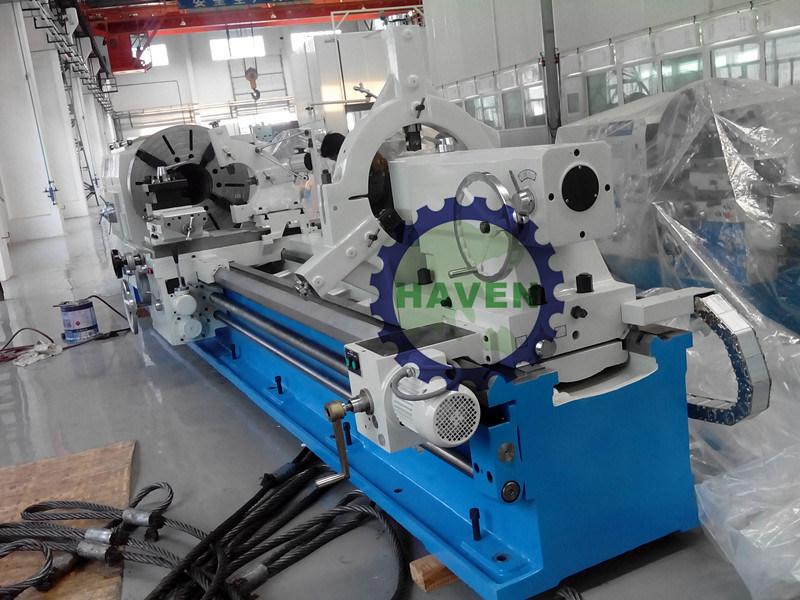 Screw-cutting pipe thread lathe for taper thread cutting