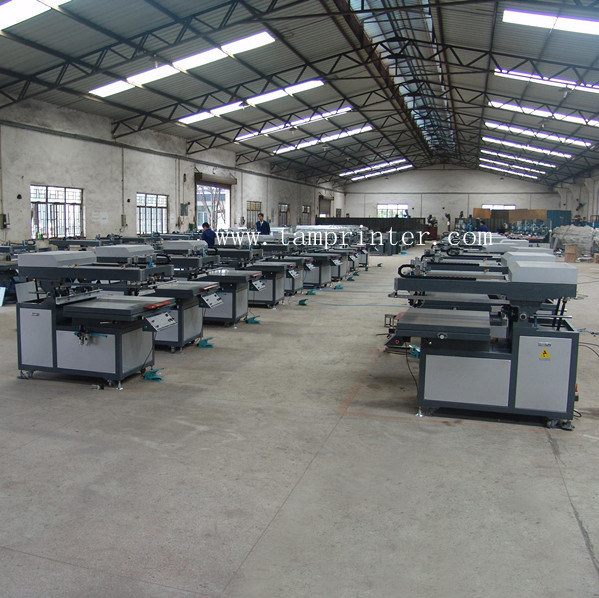 Tmp-70100 CE Approval Semi-Auto Oblique Arm Flat Silk Screen Printing Machine